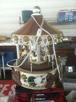 WANTED: CHRISTMAS CAROUSEL, VERY LARGE, LIGHTS, MUSIC, HORSES