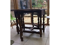 Old oak gateleg table