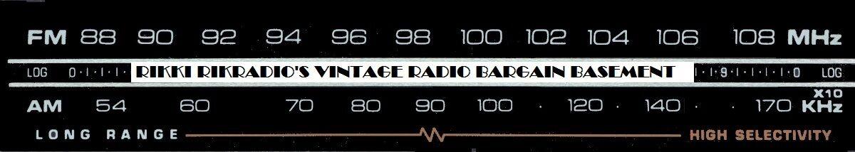 Vintage Radio Bargain Basement