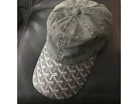 New Grey Goyard Leather Brim NYCVintagestore Hat Cap Dad Strapback Alyx Studios Gucci A Cold Wall