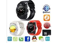Smart Watch Phone V8 with Camera, Sim, TF card, Bluetooth, MP3 and Touch Screen