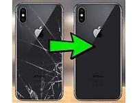 Apple Iphone 8, 8 PLUS, X, Xr, Xs, Xs MAX Cracked Back glass Replacement, Phone Repair Service