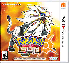 3ds with pokemon sun just the cartridge and pokemon ultra moon