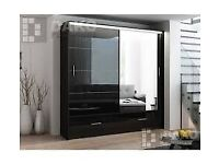 🌌Sale On Furniture 🌌BRAND NEW MARSYLIA 2 SLIDING DOORS MIRROR WARDROBE IN 208CM SIZE🌌