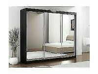 BEST FURNITURE- NEW LUX 3 SLIDING DOORS WARDROBE IN 250CM SIZE & IN MULTI COLORS-CALL NOW