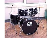 CB DRUM KIT COMPLETE WITH UPGRADED PEARL CYMBALS