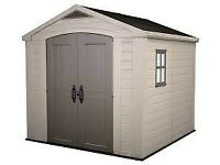 Keter Factor 8 x 6 feet Outdoor Plastic Garden Storage Shed Free Delivery and Assembly
