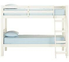 White Bunk beds with 1 x mattress
