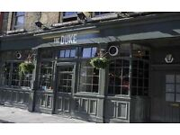 Gastro Pub in Richmond looking for experienced front of house staff. Excellent hourly rates