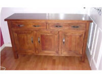 Next Home Solid Mango Wood Large Sideboard Storage Unit