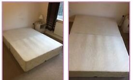 Double divan bed base for collection , free