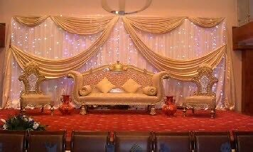 Asian wedding catering 14pp decoration packages 4pp for Asian wedding stage decoration london