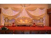 Asian Wedding Catering £14pp Decoration Packages £4pp Stage Decor Mendhi Decor £299 Nikkah Stage Thr