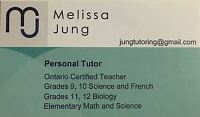 Private Tutoring (French, Science, Biology, Elementary Math)