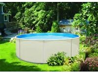 Topaz 18' above ground metal swimming pool. Boxed New £895. All you'll need to start swimming.
