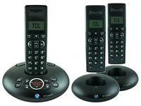 BT Graphite 1500 Trio Digital cordless telephone with answer machine