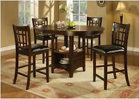 Oval Bar Height Dining Table