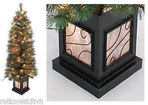 pre lit potted christmas trees - Small Lit Christmas Tree