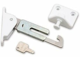 Res-Lok Fac e Fix Locking Window Restrictor L/H White