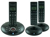 BT Graphite 1500 Trio Digital cordless telephone with answer machine