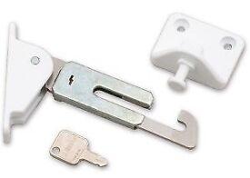 Res-Lok Face Fix Locking Window Restrictor L/H White