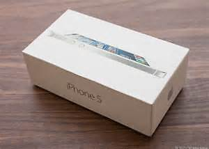 NEW APPLE IPHONE 5 BOX - BUY EMPTY OR WITH ACCESSORIES