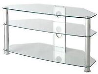 Clear Glass TV Stand with 3 Shelves - pick up only!!!