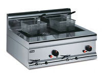 Gas fryer Lincat counter top twin tank