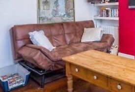 Brown sofa bed- great condition