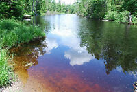 1.44 acres lot 184' riverfront off hwy 17 E of Sturgeon Falls