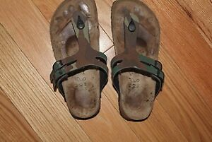 Authentic Birkenstock Camoflage T Strap