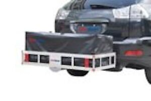 NEW DeluxeAluminum Hitch-Mount Cargo Carrier including cargo bag