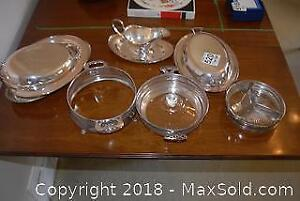 Silver Plate Serving Dishes- B