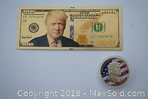 Federal Reserve Note / Trump Novelty Coin (LOT 2 of 2) - NEW