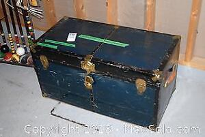 Metal Chest And Contents- C