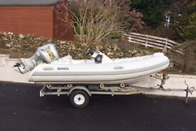 MUST BE SEEN! Imaculate BRIG 380 Eagle RIB 40 HP Motor