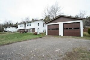 Check this out! Split entry with detached double garage!!