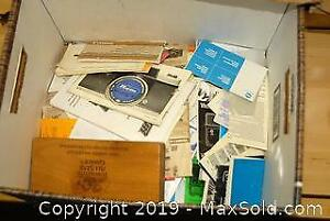 Vintage Manuals and Newspaper Clippings A