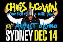 1 x CHRIS BROWN TICKET SYDNEY SHOW F.A.M.E. GOLD RESERVED SEATING Campsie Canterbury Area Preview