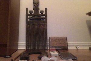 Artisanat, sculpture, tissus, tableau, rideaux africains et plus