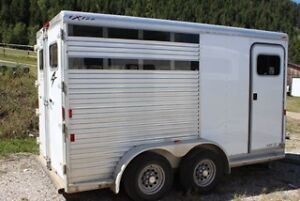Stock Combo 2-3 Horse Trailer Exiss All Aluminum