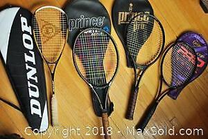 Lot of 4 rackets-tennis and racket ball..