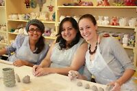 1-3 hour workshops at Clay for Kids & Adults too