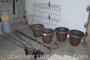 Garden Torches And Pots C