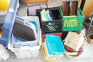 Plastic Bins And Totes A