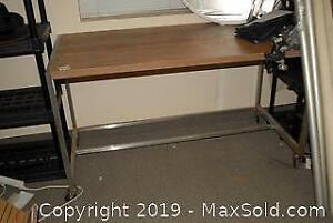 Portable Work Table and Shelving Unit C