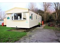 Three bedroom, 8 berth Abi Horizon Caravan with outside seating area