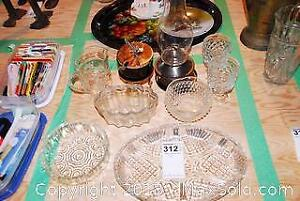 Cut Glass Serving Dishes and More A
