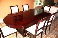 mobilier de salle à manger en acajou massif