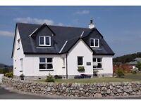 FOR SALE in Kippford. Detached 4 bed property, 2 ensuites, 1 bathroom, detached large garage, study.